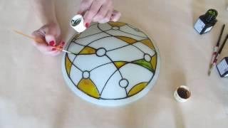 Расписываем светильник своими руками