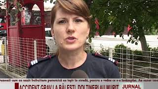ACCIDENT GRAV LA BALESTI, DOI TINERI AU MURIT