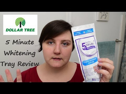 5 Minute Teeth Whitening Tray Review | Dollar Tree
