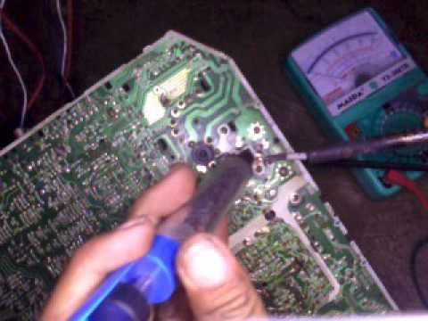 kerusakan tv polytron boobas mati total mang usman