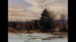 Study after: Hugh Bolton Jones   Winter Sunset Tonalist Landscape Oil Painting