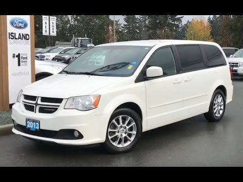 2013 Dodge Grand Caravan R/T W/ Leather, DVD, Stow N Go Review| Island Ford