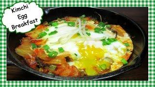Easy Skillet KIMCHI and EGG Breakfast  Healthy Spicy Breakfast Recipe