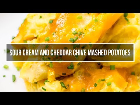 Sour Cream, Cheddar And Chive Mashed Potatoes