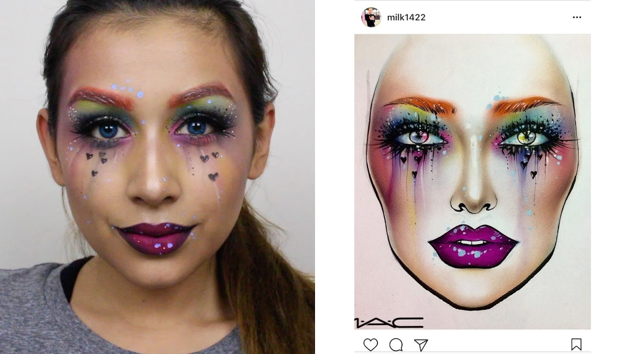Colorful Face Chart Recreation