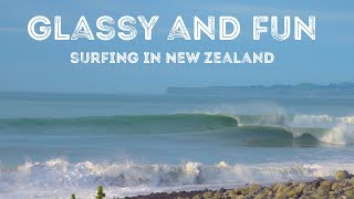 Surfing In New Zealand Glassy Beach Break Gopro 9 POV RX10