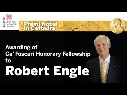 Conferimento della Ca' Foscari Honorary Fellowship a Robert Engle