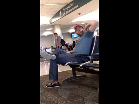Man at fort Lauderdale air port sniffs butt finger