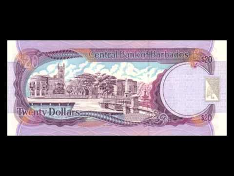 All Barbadian Dollar Banknotes - 1998 Signature Cox Issue