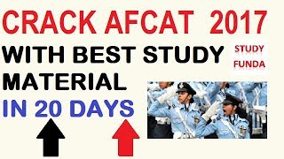 AFCAT 2 2017 CRACK WITH BEST STUDY MATERIAL