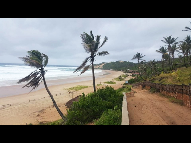 Footage showing cyclone touching ground in Mozambique