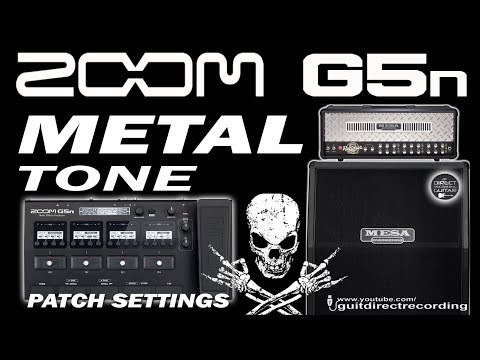 ZOOM G5n METAL Tone - Rectifier Amp Simulation [Free Patch].