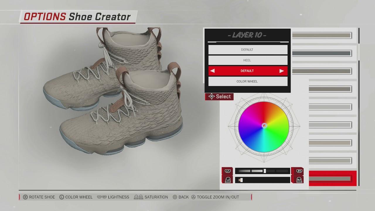 NBA 2K18 Shoe Creator | Lebron 15 Ghost