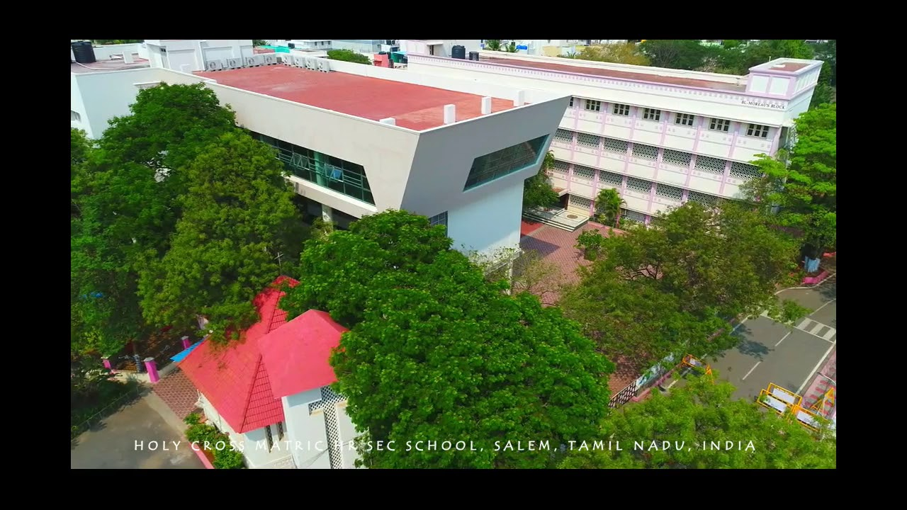 Bird's-eye view of Holy Cross Matric Hr Sec School, Salem, Tamil Nadu, India