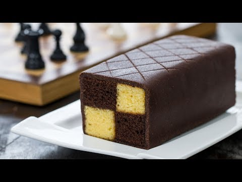 Chocolate Almond Battenberg Cake – 4k video