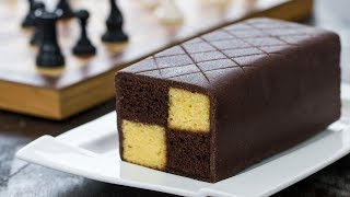 Chocolate Almond Battenberg Cake - 4k video
