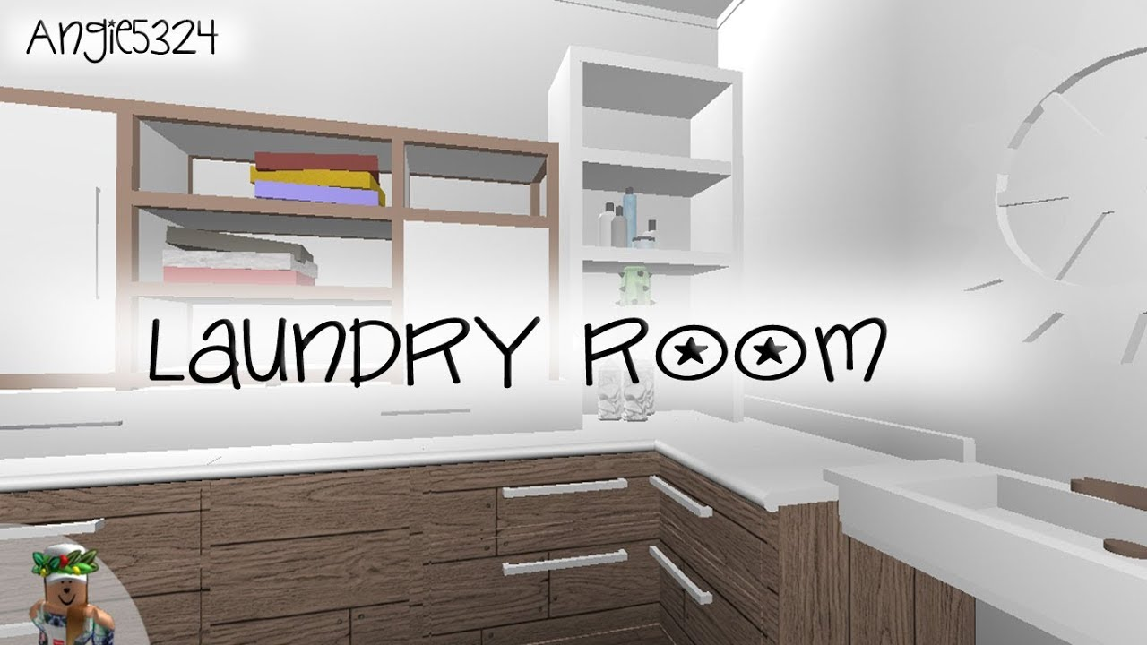 Welcome to Bloxburg: Laundry Room Speed Build - YouTube