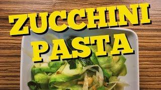 Zucchini Pasta | Aglio e Olio | Best Gluten-Free Pasta Alternative | Zucchini Pasta Tagliatelle