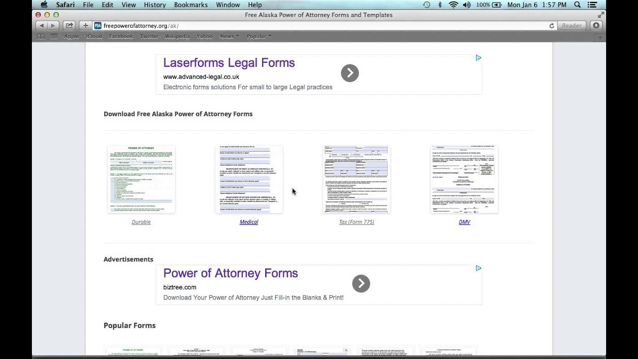 How To Write An Alaska Power Of Attorney Form Youtube