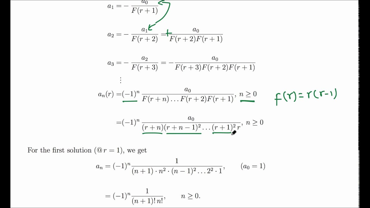 closed form series solutions of xy''+y=0 - YouTube