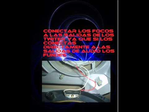 COMO PONER LUCES LED EN MIS BOCINAS AL PAR DE LOS BAJEOS YouTube