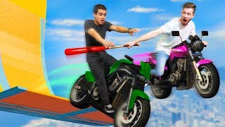 Motorcycle Stunt Racing With Weapons! | GTA5