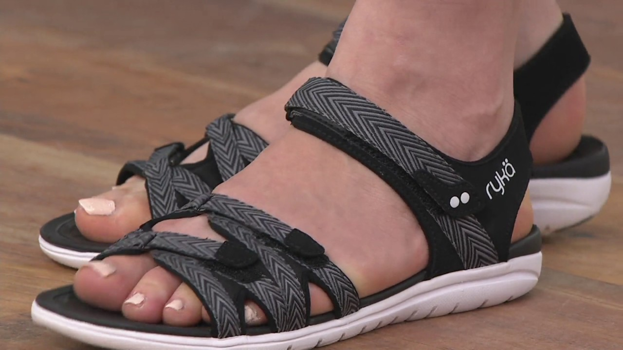 54f978be249 Ryka Sport Sandals with CSS Technology - Savannah on QVC - YouTube