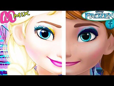 Делаем макияж принцессам Диснея Эльзе и Анне в игре для девочек про макияж.