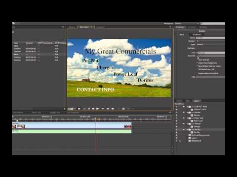 Adobe Encore CS6 Basics CC Tutorial 2014 DVD and Blur-ray Authoring