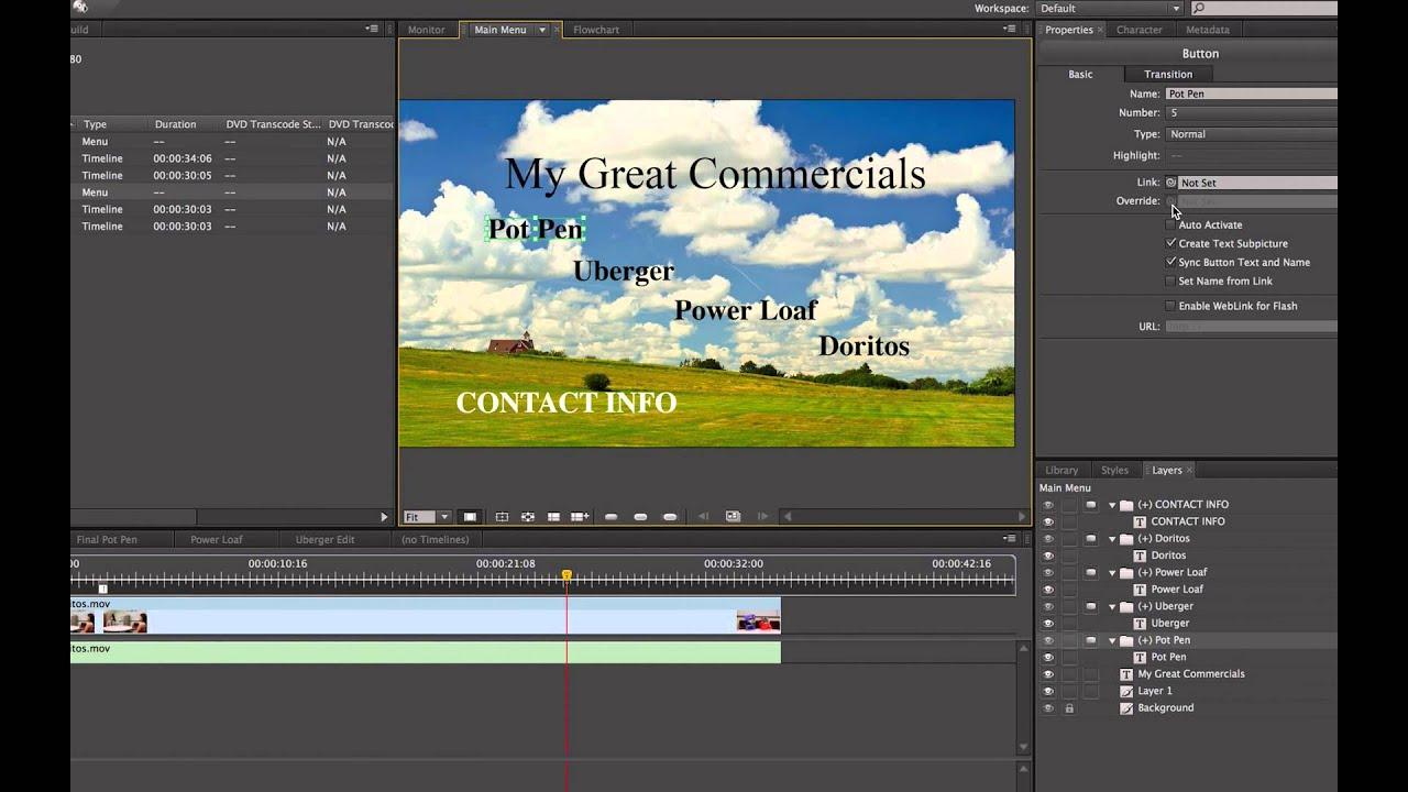 adobe encore cs6 basics cc tutorial 2014 dvd and blur ray authoring rh youtube com Adobe Premiere vs Encore Adobe Encore Tutorial