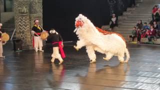 Korean Lion Dancing at the Andong Mask Dance Festival