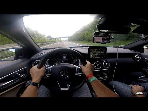 Je test la vitesse max de mon A45 amg sur AUTOBAHN !