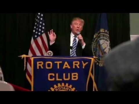 Trump talks at a Rotary Club luncheon