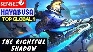 The Rightful Shadow [Hayabusa Top GLobal 1] | sᴇɴsᴇɪ Hayabusa Build Mobile Legends thumbnail