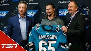 San Jose Sharks introduce Erik Karlsson