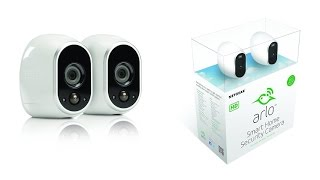 Arlo Smart Home Security Camera System 100% Wire Free, Indoor and Outdoor Video Cameras With Night V