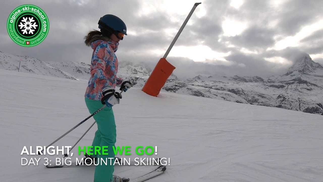 Learning with Alpine Ski School Zermatt! - George and Gen