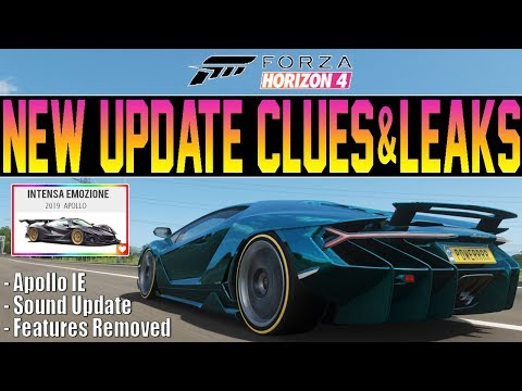Forza Horizon 4 - NEW UPDATE Clues! - Car Sounds, Apollo IE & More thumbnail