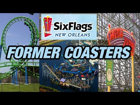 The Former Coasters of Six Flags New Orleans!
