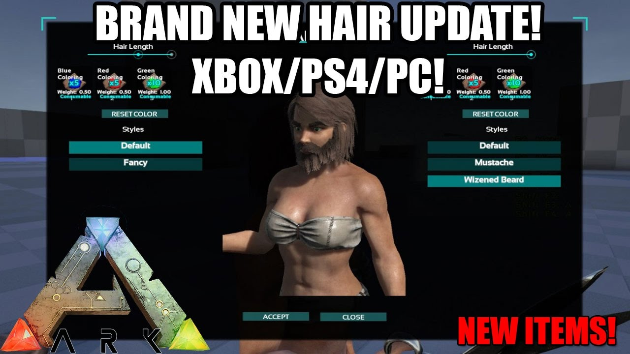 Ark Brand New Hair Facial Update Haircuts Dye And More Howto Control Your Sprinklers With X10 Commands Howto39s Xbox Ps4 Pc Youtube