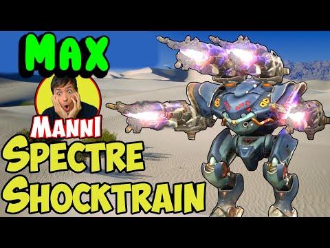 War Robots NEW MAXED Spectre Shocktrain Mk2 Gameplay OP ALARM - WR