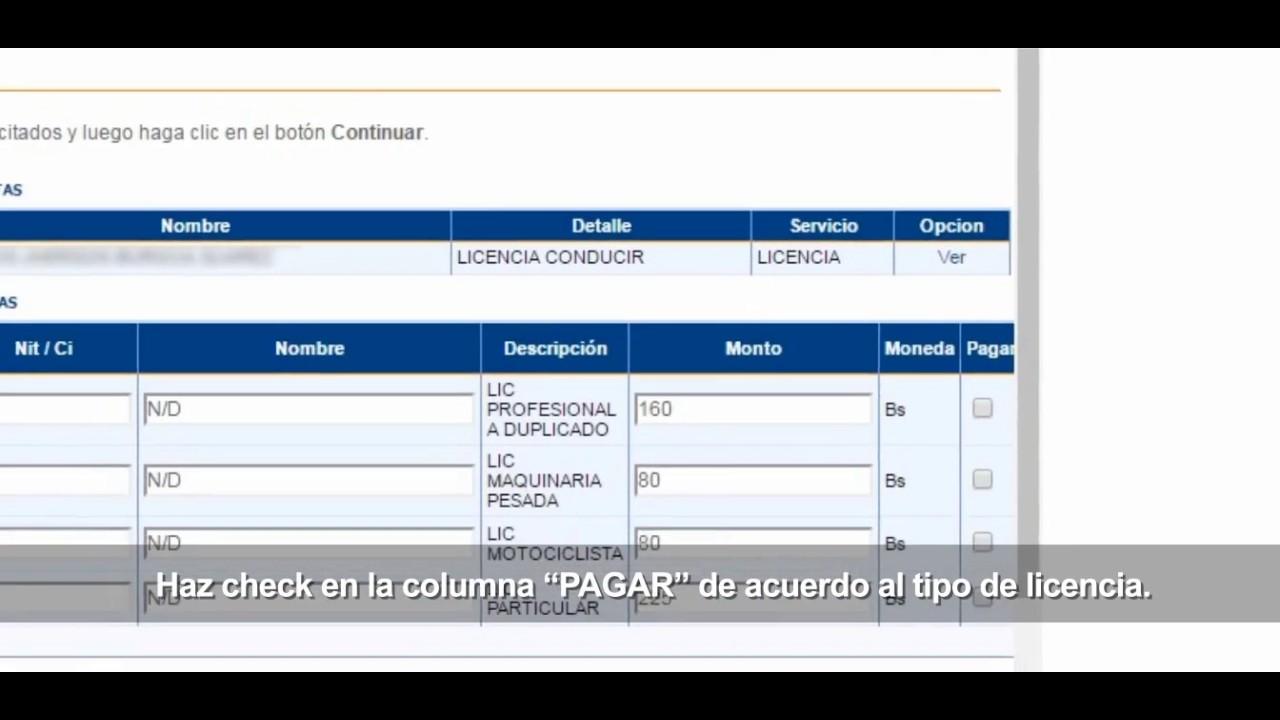 Uninet pago a segip por licencia de conducir youtube for Banco union uninet