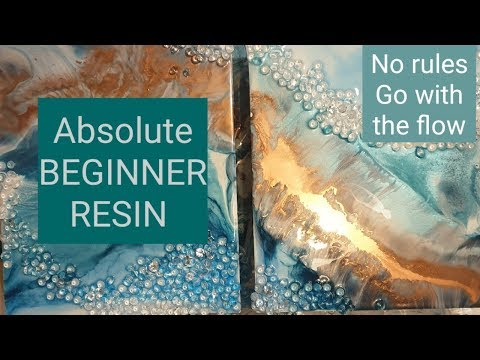 RESIN ART absolute beginner NO RULES go with the flow