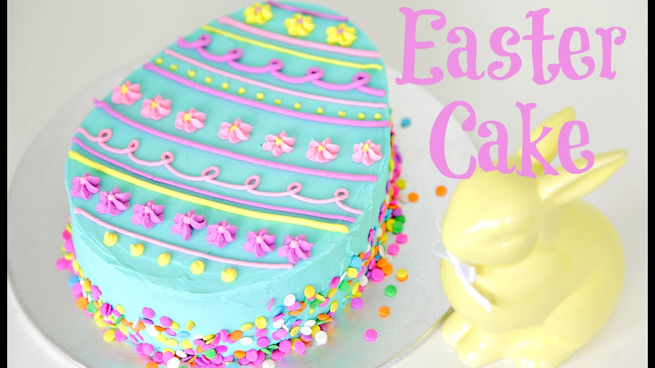 Cake Decorated With Easter Eggs : Easter Egg Cake Decorating - CAKE STYLE - YouTube
