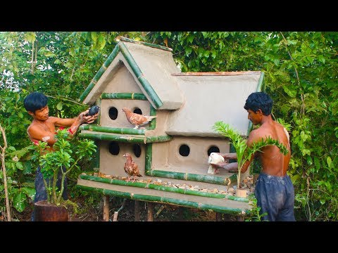 build-a-house-for-a-sad-bird-using-mud-and-bamboo