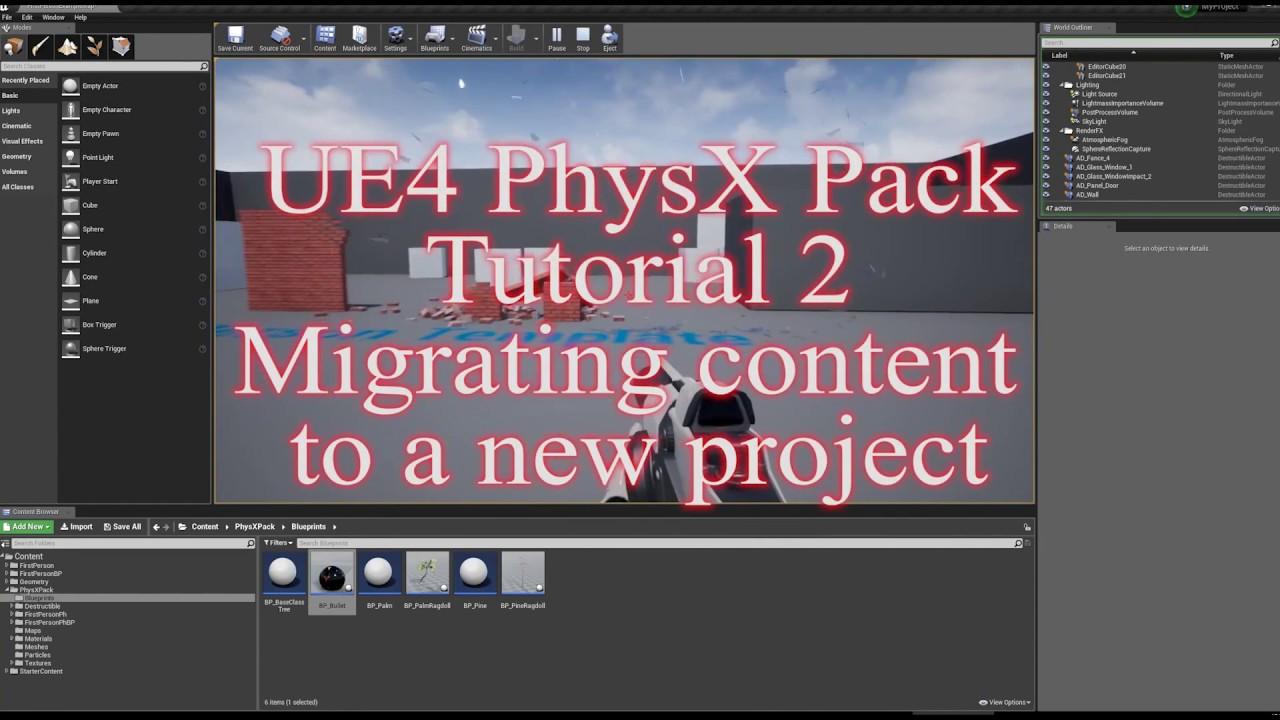 PhysX Pack Assets Destruction  APEX technology - Unreal