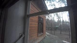 Кот лезет по окну в форточку. The Tomcat climbs on to ventlight.