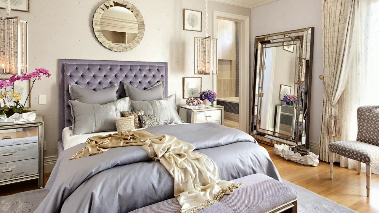 Gold color bedroom decorating ideas 2018 white cream - Bedroom wall decor ideas ...
