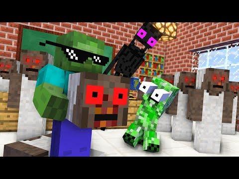 Monster School : ZOMBIE APOCALYPSE GRANNY Horror Challenge - Minecraft Animation