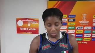 Mondiali Femminili 2018: le parole di Miriam Sylla al termine di Italia-USA 3-1